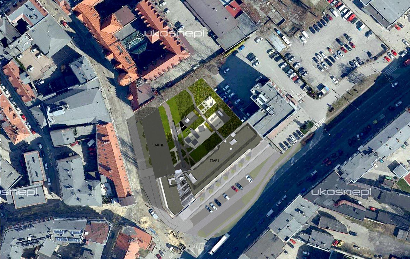 Dworcowa 25 zagospodarowanie na foto mapie + etap II